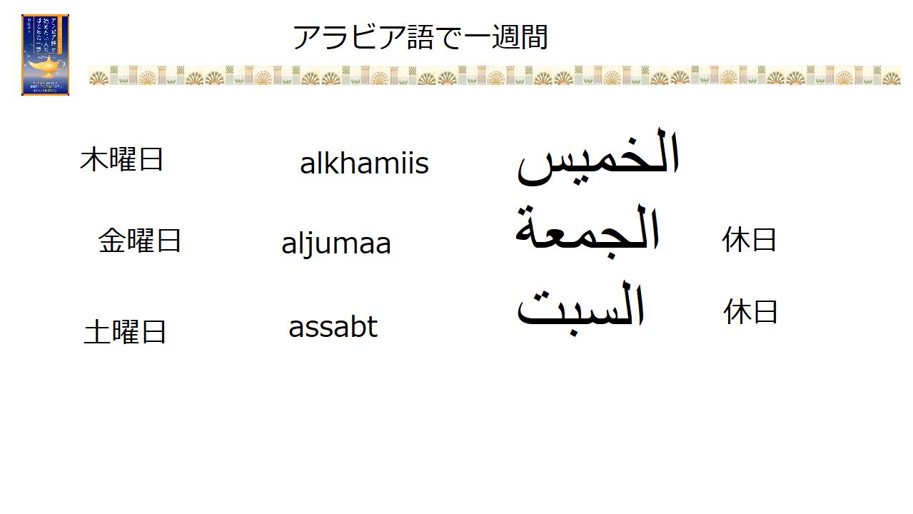 こんにちは アラビア 語